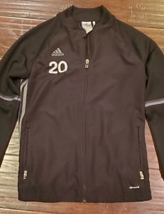 """Adidas Black Trainer Jacket """"#20"""" Medium"""